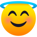 Smiling Face with Halo on JoyPixels 6.5