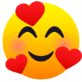 Smiling Face with Hearts on JoyPixels 6.5