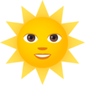 Sun with Face on JoyPixels 6.5