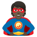 Superhero: Dark Skin Tone on JoyPixels 6.5