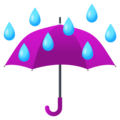 Umbrella with Rain Drops on JoyPixels 6.5