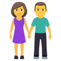 Woman and Man Holding Hands on JoyPixels 6.5