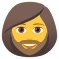 Woman: Beard on JoyPixels 6.5