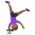 Woman Cartwheeling: Medium-Dark Skin Tone on JoyPixels 6.5
