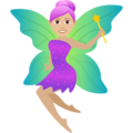 Woman Fairy: Medium-Light Skin Tone on JoyPixels 6.5