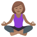 Woman in Lotus Position: Medium Skin Tone on JoyPixels 6.5