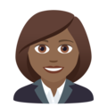 Woman Office Worker: Medium-Dark Skin Tone on JoyPixels 6.5