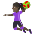 Woman Playing Handball: Dark Skin Tone on JoyPixels 6.5