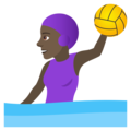 Woman Playing Water Polo: Dark Skin Tone on JoyPixels 6.5