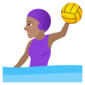 Woman Playing Water Polo: Medium Skin Tone on JoyPixels 6.5