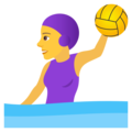 Woman Playing Water Polo on JoyPixels 6.5