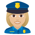 Woman Police Officer: Medium-Light Skin Tone on JoyPixels 6.5