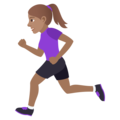 Woman Running: Medium Skin Tone on JoyPixels 6.5