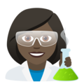 Woman Scientist: Dark Skin Tone on JoyPixels 6.5
