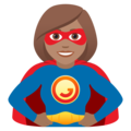Woman Superhero: Medium Skin Tone on JoyPixels 6.5