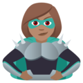 Woman Supervillain: Medium Skin Tone on JoyPixels 6.5