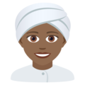 Woman Wearing Turban: Medium-Dark Skin Tone on JoyPixels 6.5
