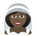 Woman with Veil: Dark Skin Tone on JoyPixels 6.5