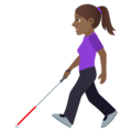 Woman with White Cane: Medium-Dark Skin Tone on JoyPixels 6.5