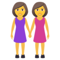Women Holding Hands on JoyPixels 6.5
