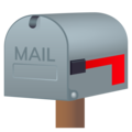Closed Mailbox with Lowered Flag on JoyPixels 6.6