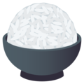Cooked Rice on JoyPixels 6.6