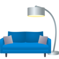 Couch and Lamp on JoyPixels 6.6