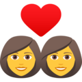 Couple with Heart: Woman, Woman on JoyPixels 6.6