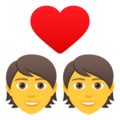 Couple with Heart on JoyPixels 6.6