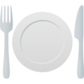 Fork and Knife with Plate on JoyPixels 6.6