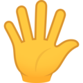 Hand with Fingers Splayed on JoyPixels 6.6