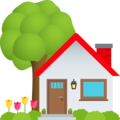 House with Garden on JoyPixels 6.6