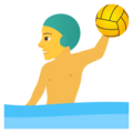 Man Playing Water Polo on JoyPixels 6.6