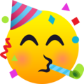 Partying Face on JoyPixels 6.6
