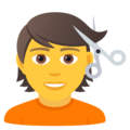 Person Getting Haircut on JoyPixels 6.6