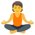 Person in Lotus Position on JoyPixels 6.6