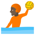 Person Playing Water Polo: Dark Skin Tone on JoyPixels 6.6
