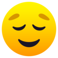 Relieved Face on JoyPixels 6.6