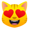 Smiling Cat with Heart-Eyes on JoyPixels 6.6