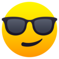 Smiling Face with Sunglasses on JoyPixels 6.6