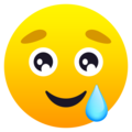 Smiling Face with Tear on JoyPixels 6.6