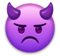 Angry Face with Horns on LG Velvet