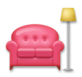 Couch and Lamp on LG Velvet