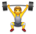Person Lifting Weights on LG Velvet