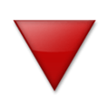 Red Triangle Pointed Down on LG Velvet