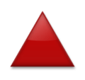 Red Triangle Pointed Up on LG Velvet