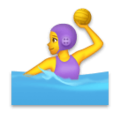 Woman Playing Water Polo on LG Velvet