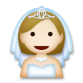 Bride With Veil: Medium-Light Skin Tone on LG G5