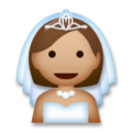 Bride With Veil: Medium Skin Tone on LG G5