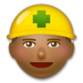 Construction Worker: Medium-Dark Skin Tone on LG G5
